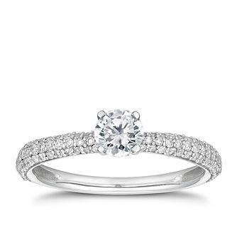 18ct White Gold 0.66ct Total Diamond Solitaire Ring - Product number 5694639