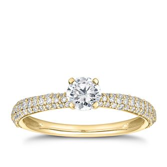 18ct Yellow Gold 2/3ct Diamond Solitaire Ring - Product number 5695341