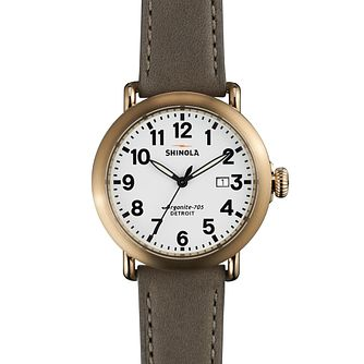 Shinola Runwell Men's Gold Plated Strap Watch - Product number 5696860