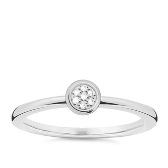 Thomas Sabo Sterling Silver Diamond Ring Size M - Product number 5698278