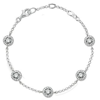 Thomas Sabo Sterling Silver Stone Set Bracelet - Product number 5699045