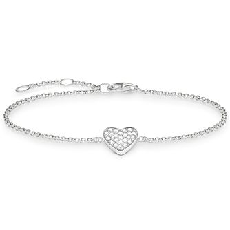 Thomas Sabo Sterling Silver Classic Heart Bracelet - Product number 5699223