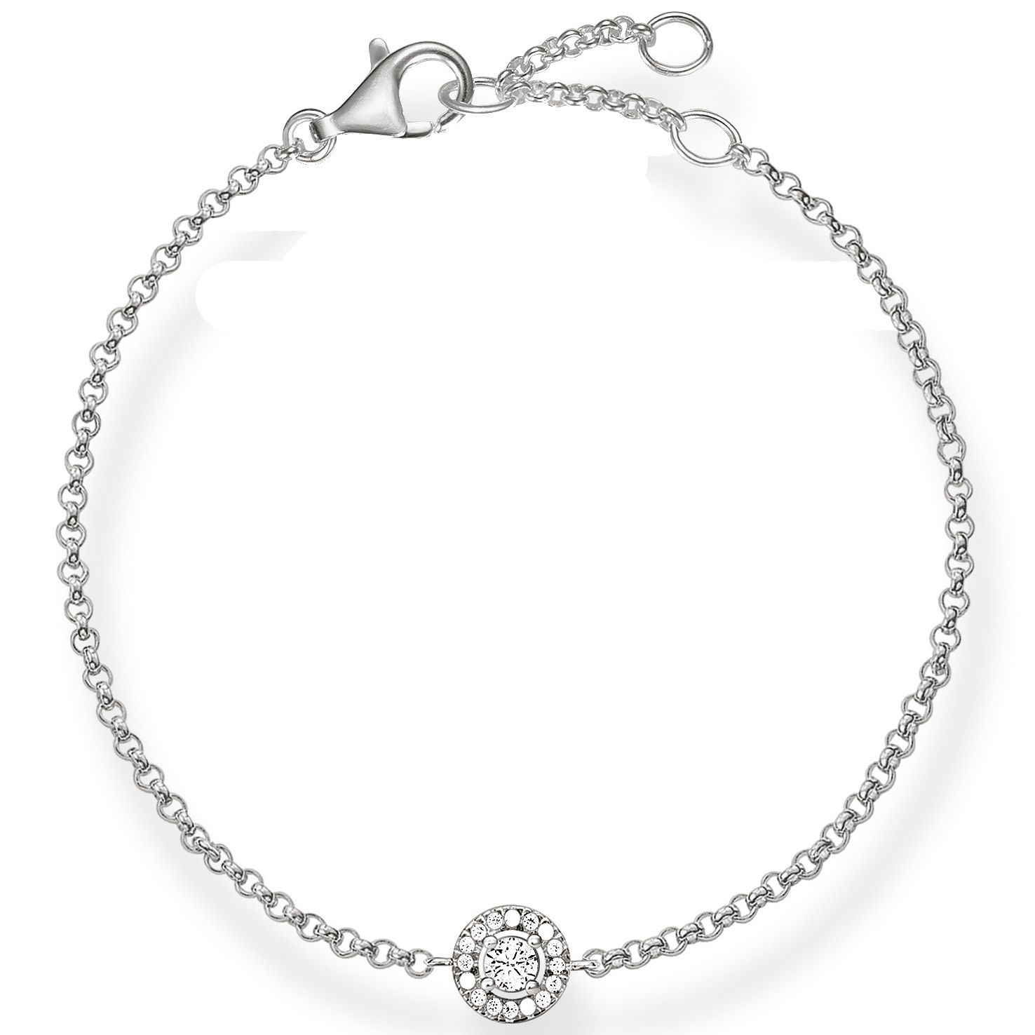 Thomas Sabo Sterling Silver Classic Stone Set Bracelet - Product number 5699258