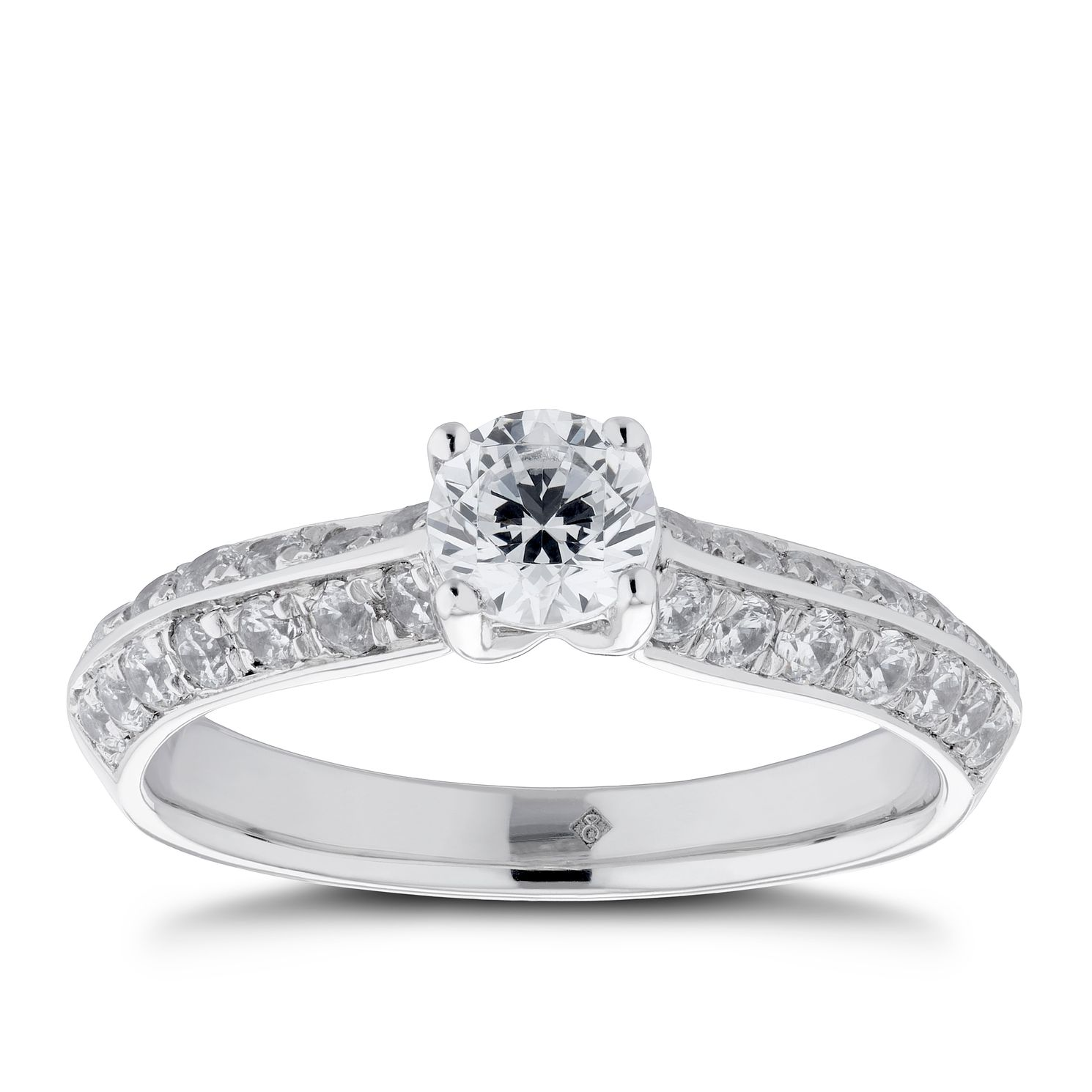 The Diamond Story Platinum 1ct Diamond Solitaire Ring - Product number 5703816