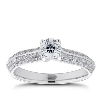 The Diamond Story Platinum 1ct Total Diamond Solitaire Ring - Product number 5703816