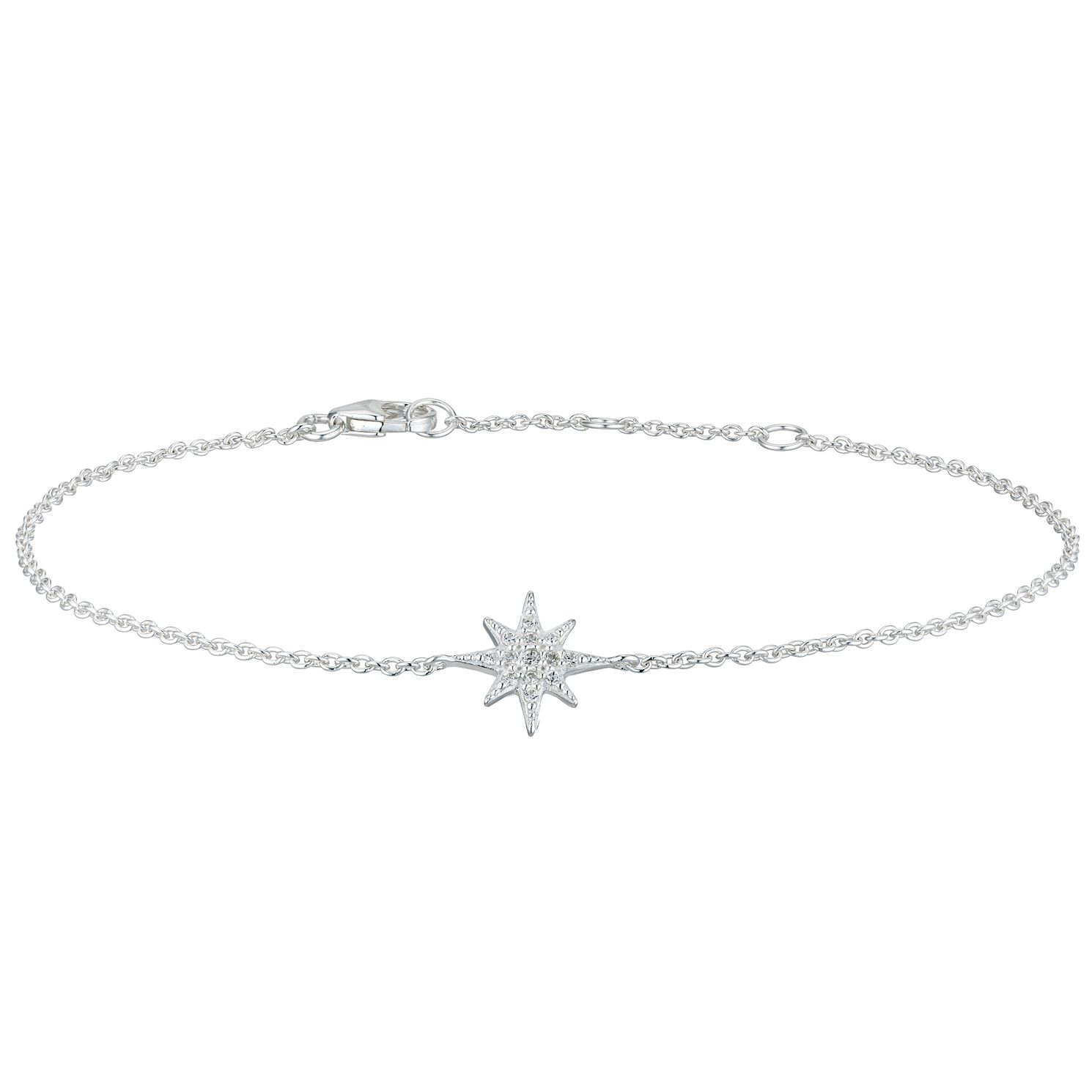 Silver Cubic Zirconia Snowflake Bracelet - Product number 5705320
