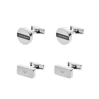 Emporio Armani Men's Stainless Steel Cufflink Set - Product number 5711576