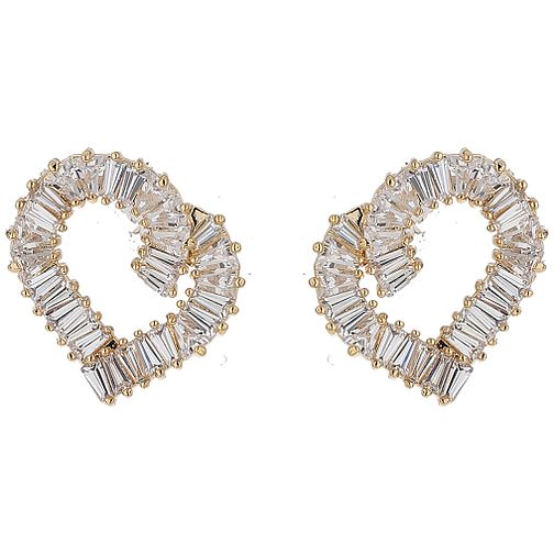 Mikey Baugette Cubic Zirconia Heart Earrings - Product number 5714761