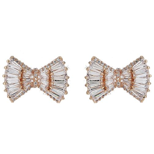 Mikey Baguette Cubic Bow Earrings - Product number 5714796