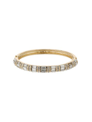 Mikey Gold Tone Baguette Crystal Set Bangle - Product number 5715350