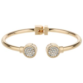 Mikey Gold Tone Crystal Hinged Bangle - Product number 5715725