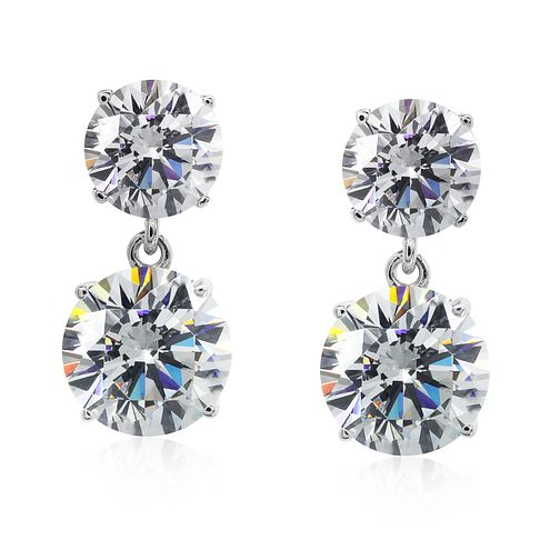 CARAT* LONDON 9ct White Gold Double Drop Earrings - Product number 5715822