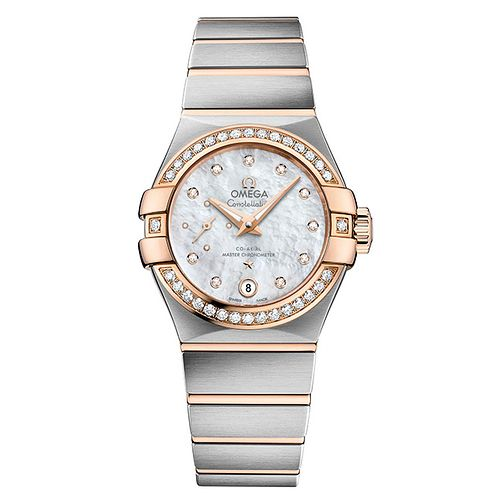 Omega Constellation Automatic Diamond Ladies' Bracelet Watch - Product number 5724236