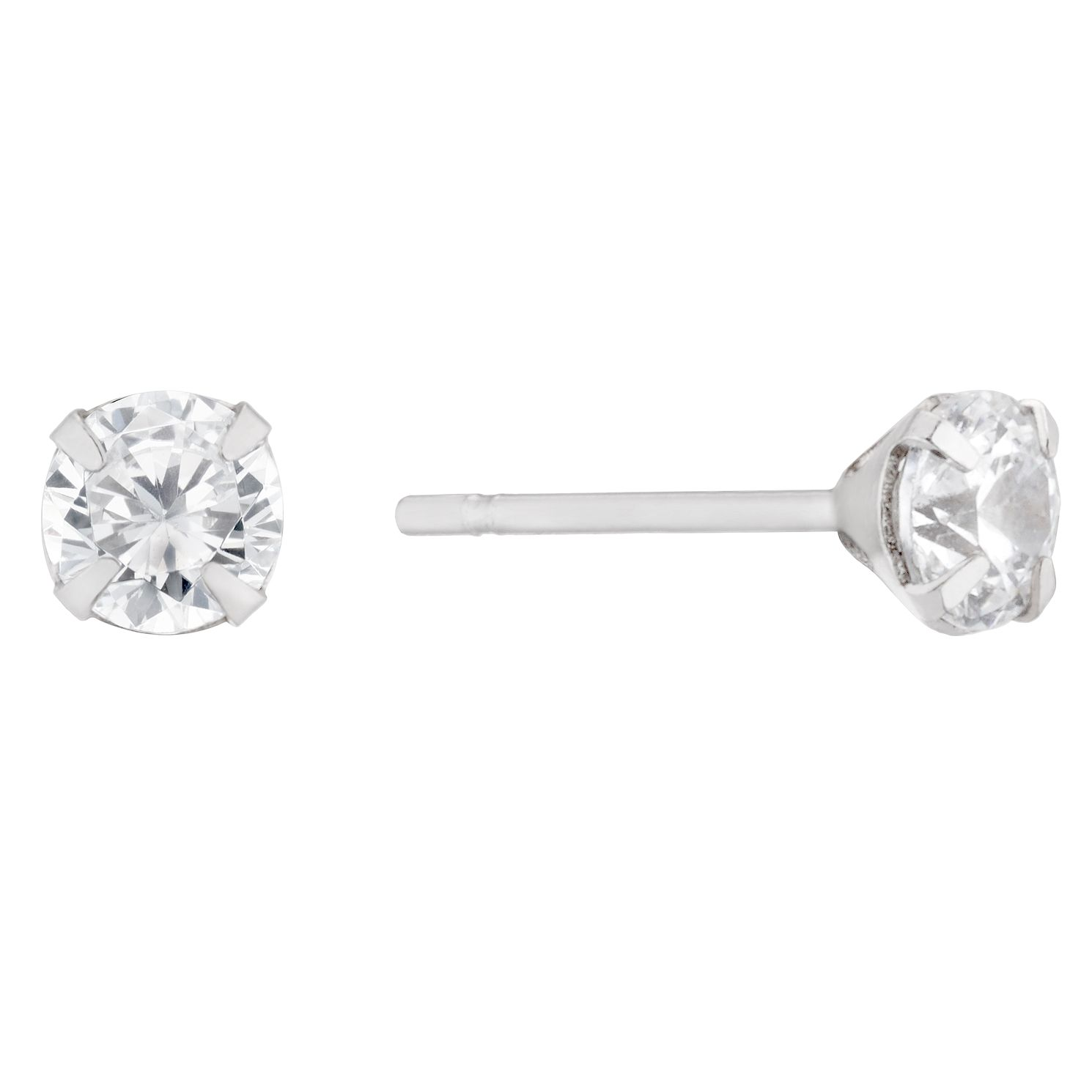 9ct White Gold Cubic Zirconia Stud Earrings - Product number 5736692
