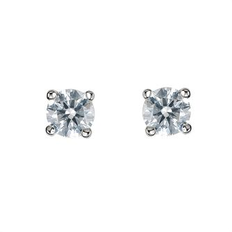 18ct White Gold 1/3ct Diamond Solitaire Stud Earrings - Product number 5778220