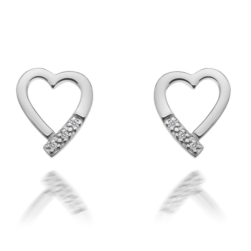 Hot Diamonds Silver Heart Earrings - Product number 5787238