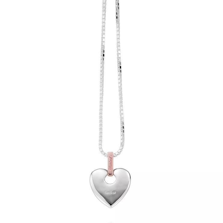 Clogau Silver and 9ct Rose Gold Cariad Heart Pendant - Product number 5802431