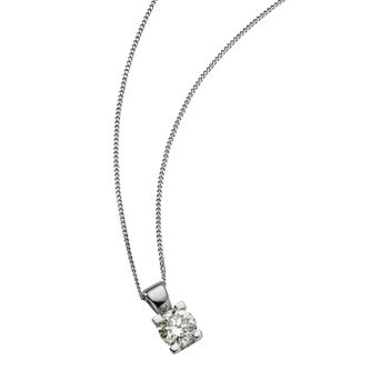 The Forever Diamond 18ct White Gold 0.40ct Pendant - Product number 5812089