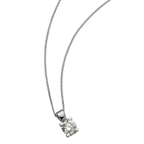 18ct White Gold 2/5 Carat Forever Diamond Pendant - Product number 5812089