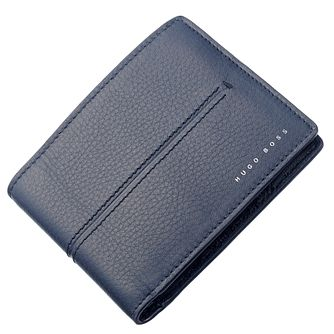 BOSS Men's Navy Leather Cardholder - Product number 5820316