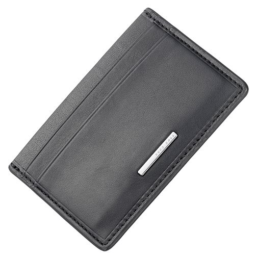 BOSS Men's Black Leather Cardholder - Product number 5820405