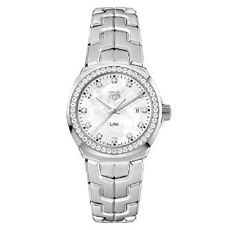 TAG Heuer Link Diamond Stainless Steel Bracelet Watch - Product number 5820812