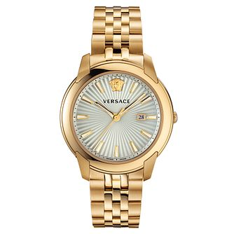 Versace V-Urban Men's Yellow Gold Tone Bracelet Watch - Product number 5821835