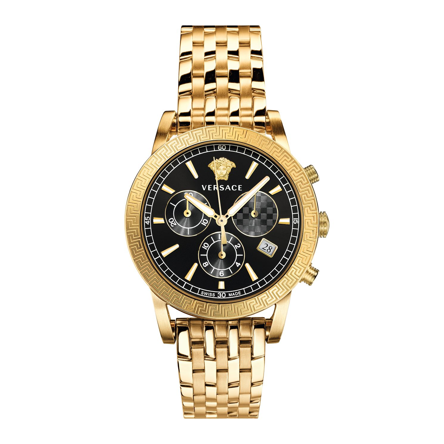 Versace Sport Tech Men's Yellow Gold Tone Bracelet Watch - Product number 5823048