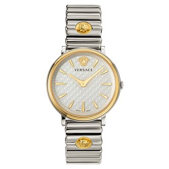 Versace V-Circle Ladies' Two Tone Bracelet Watch - Product number 5823935