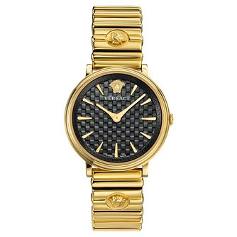 Versace V-Circle Ladies' Yellow Gold Tone Bracelet Watch - Product number 5823951