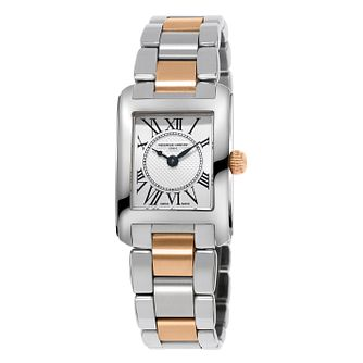Frederique Constant Carrée Ladies' Two Tone Bracelet Watch - Product number 5824370