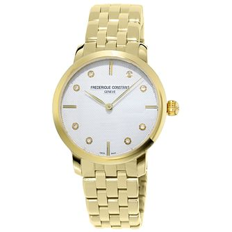 Frederique Constant Slimline Yellow Gold Tone Bracelet Watch - Product number 5824400