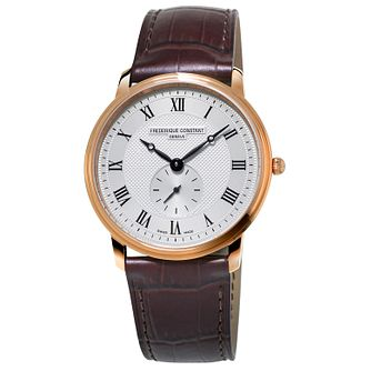 Frederique Constant Slimline Brown Leather Strap Watch - Product number 5824427