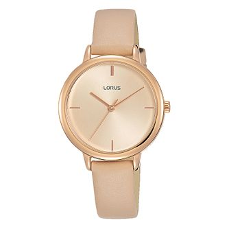 Lorus Dress Ladies' Pink Leather Strap Watch - Product number 5824486