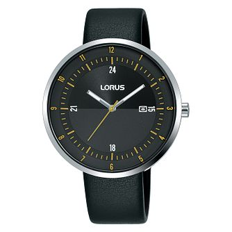 Lorus Men's Black Leather Strap Watch - Product number 5824540
