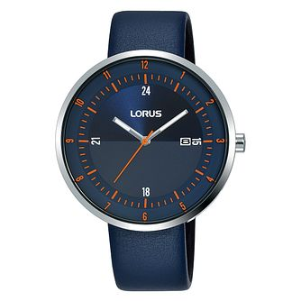 Lorus Men's Navy Leather Strap Watch - Product number 5824567