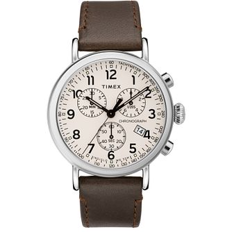 Timex The Standard Men's Brown Leather Strap Watch - Product number 5825415