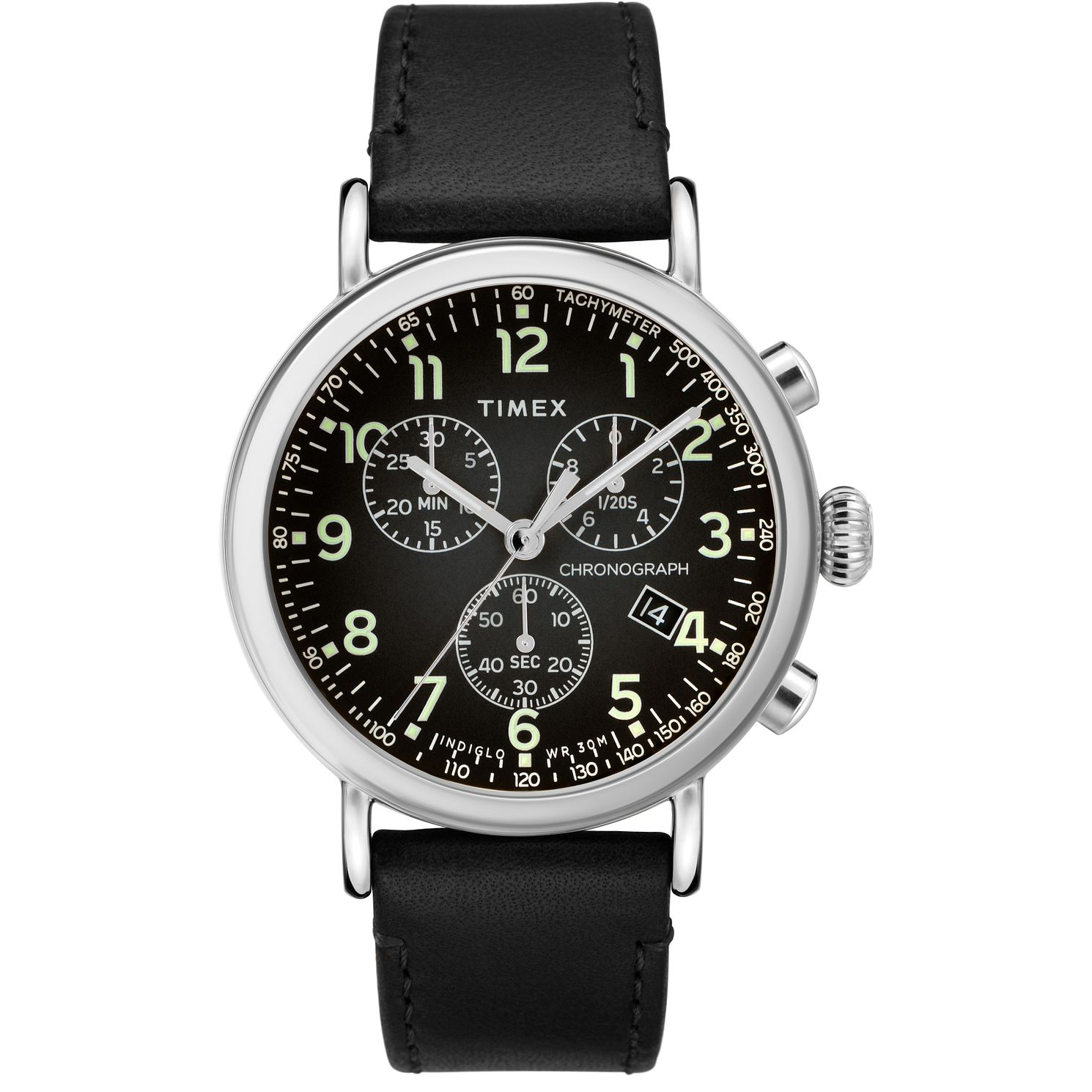 Timex The Standard Men's Black Leather Strap Watch - Product number 5825547