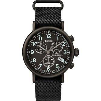 Timex The Standard Men's Black Fabric Strap Watch - Product number 5825563