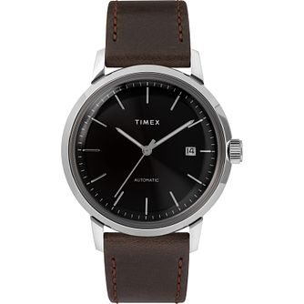 Timex Marlin Men's Brown Leather Strap Watch - Product number 5825652