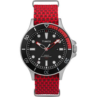 Timex Allied Men's Red Fabric Strap Watch - Product number 5825741
