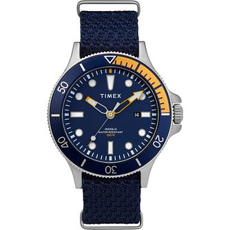 Timex Allied Men's Blue Fabric Strap Watch - Product number 5825784