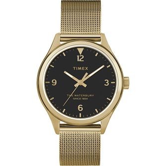 Timex Waterbury Ladies' Gold Tone Mesh Bracelet Watch - Product number 5825830