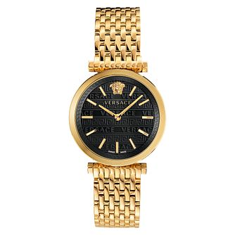Versace V-Twist Ladies' Yellow Gold Tone Bracelet Watch - Product number 5826918
