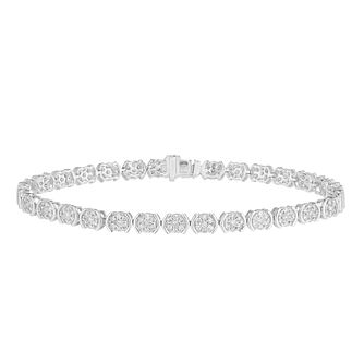 9ct White Gold 2ct Diamond Bracelet - Product number 5827205