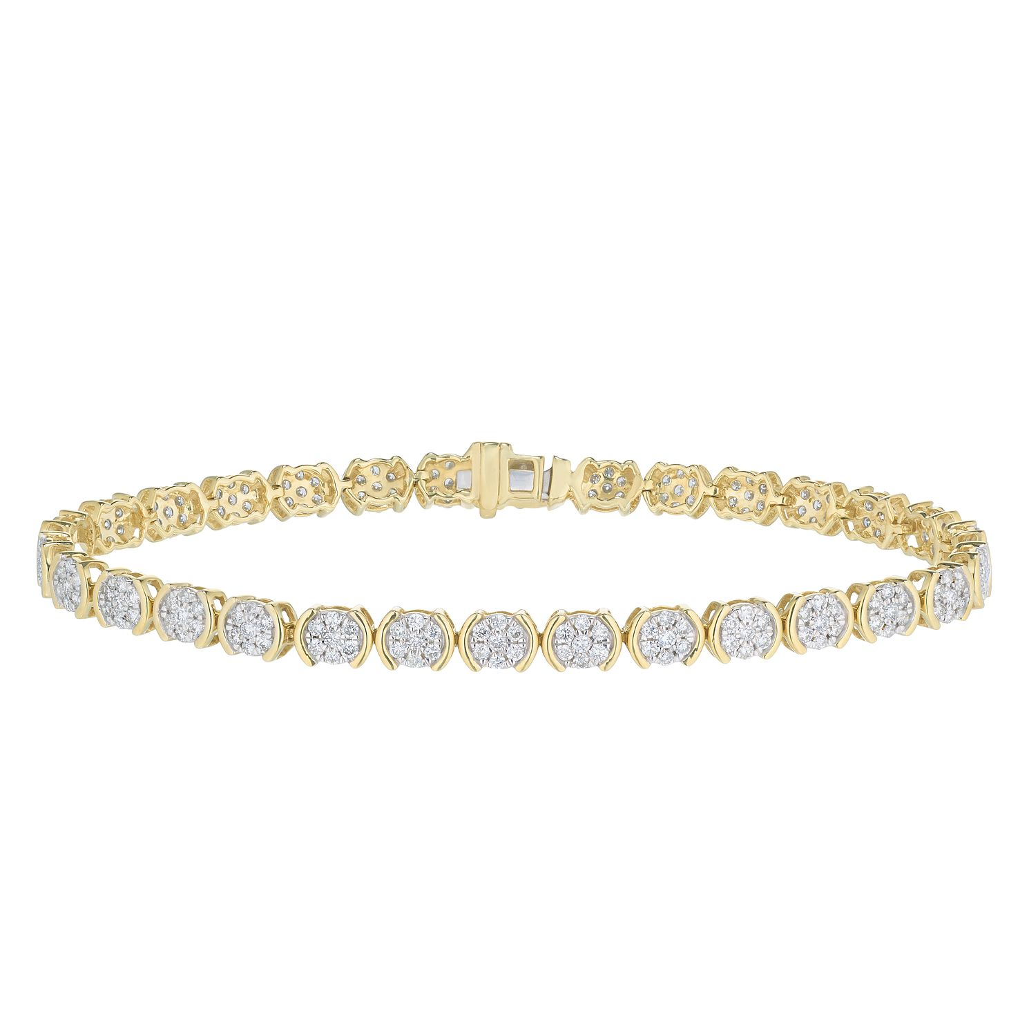 9ct Yellow Gold 2ct Diamond Bracelet - Product number 5827248