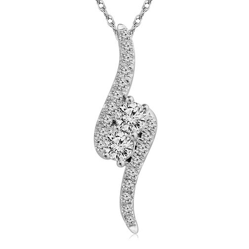 Ever Us 14ct White Gold 0.50ct Diamond Pendant - Product number 5829143