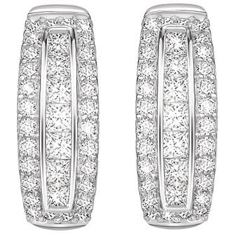9ct White Gold 1/2ct Diamond Earrings - Product number 5832896