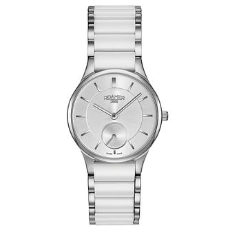 Roamer Ladies' White Ceramic & Steel Bracelet Watch - Product number 5836220