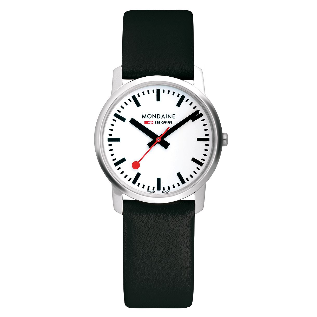 Mondaine SBB Simply Elegant Ladies' Leather Strap Watch - Product number 5837499